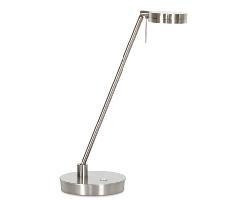 Sulcata LED Table Lamp - Brushed Nickel