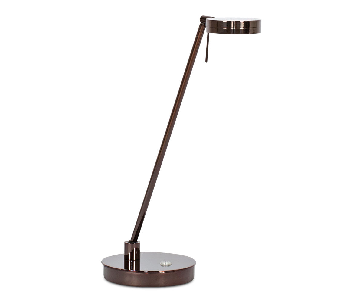 Sulcata LED Table Lamp - Chocolate Chrome