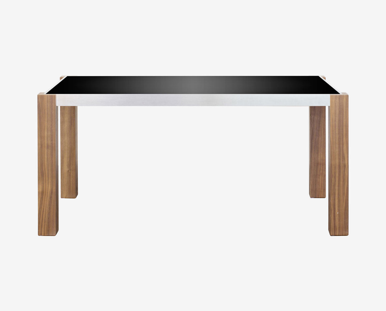 Modern black tempered glass nordic style dining table