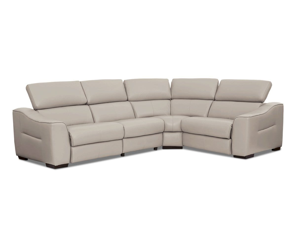 Megalo Leather Power Reclining Sectional