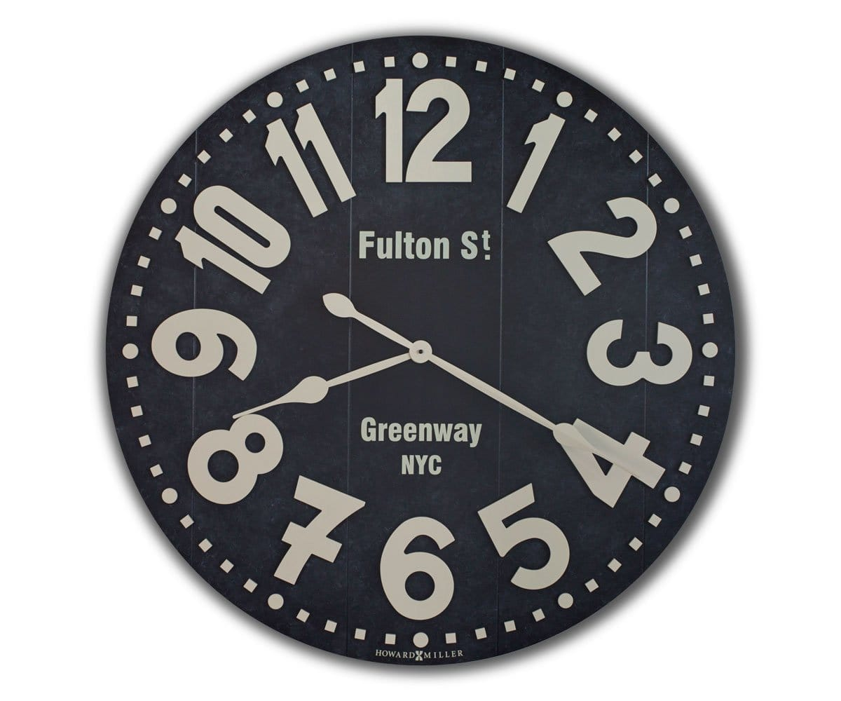 Fulton St. Oversized Wall Clock