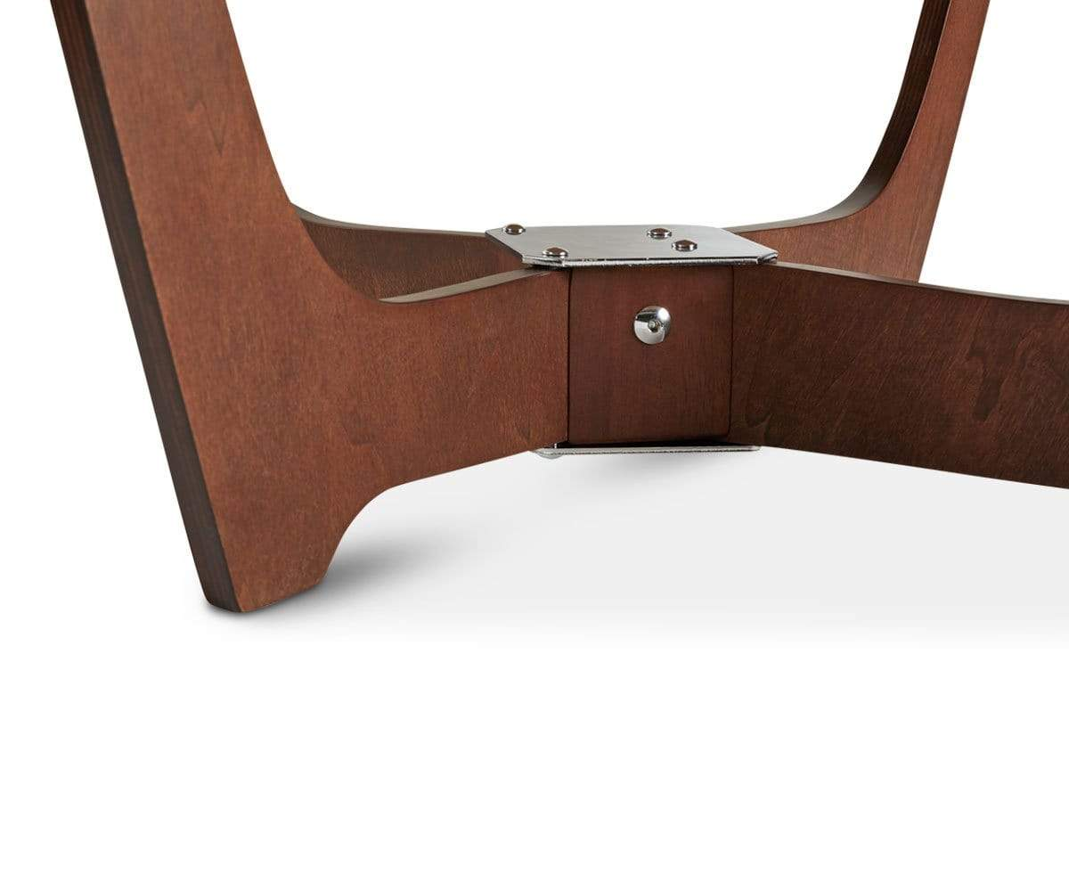 Luna Low Back Chair - Walnut Frame