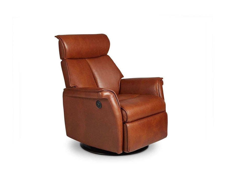 Korsvik Leather Power Recliner - Medium, Saddle