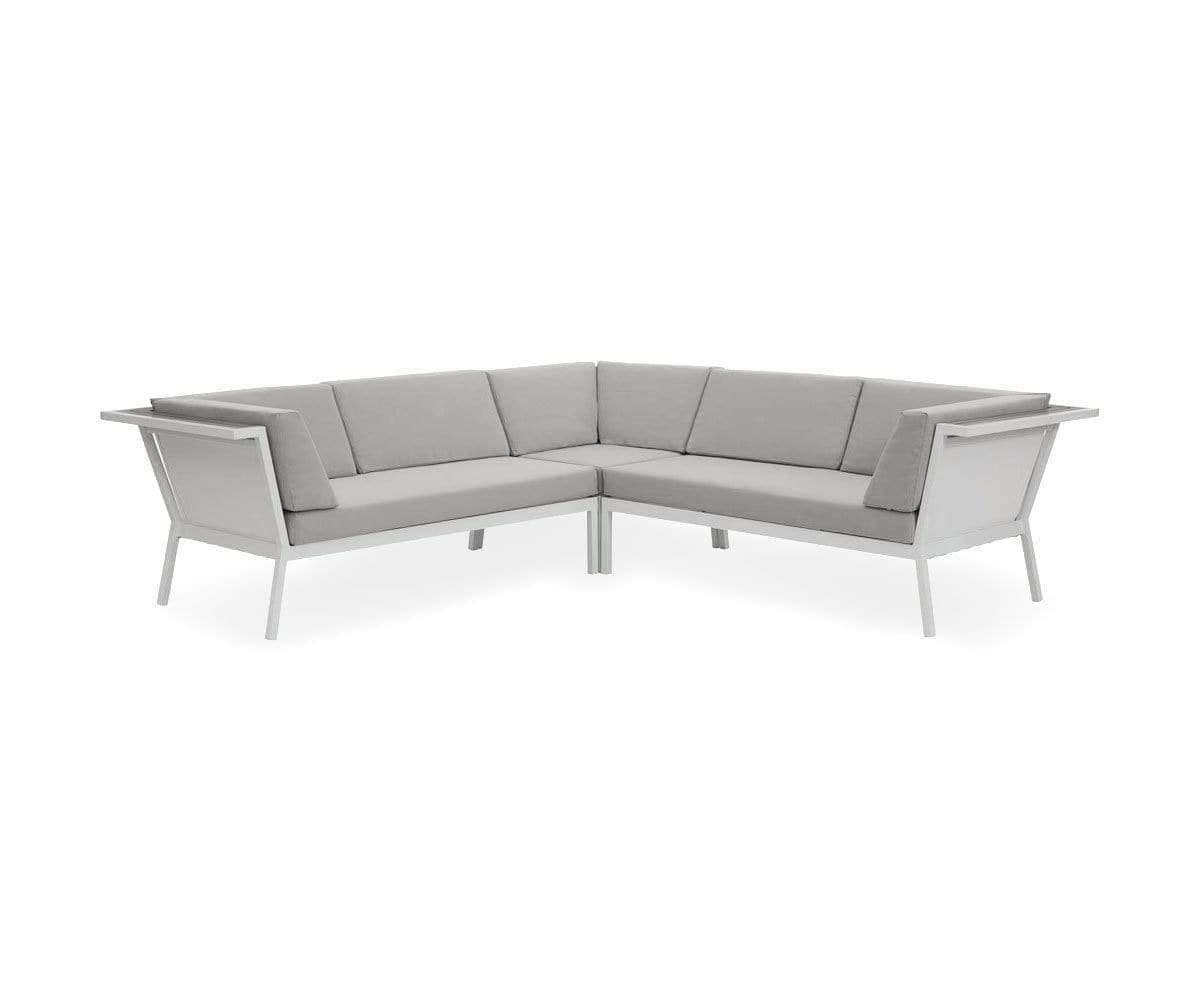patio sofa sectional aluminum cushions