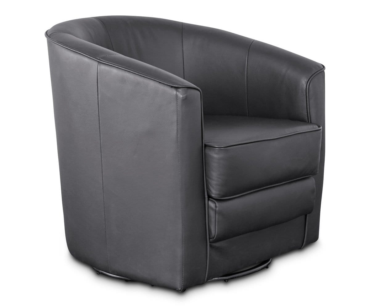 Marvelous Brown Stylish Swivel Chair · Contemporary Black Leather Lounge Chair