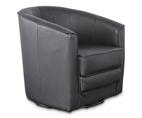 Theva Leather Swivel Chair