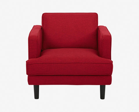 Red Danish angular tailored lounge chair