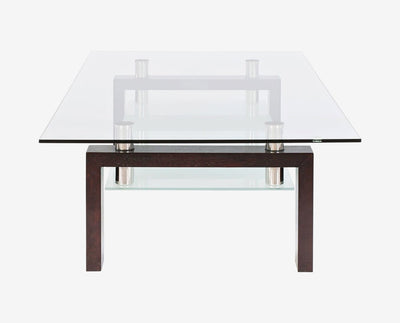 Contemporary nordic industrial accent coffee table