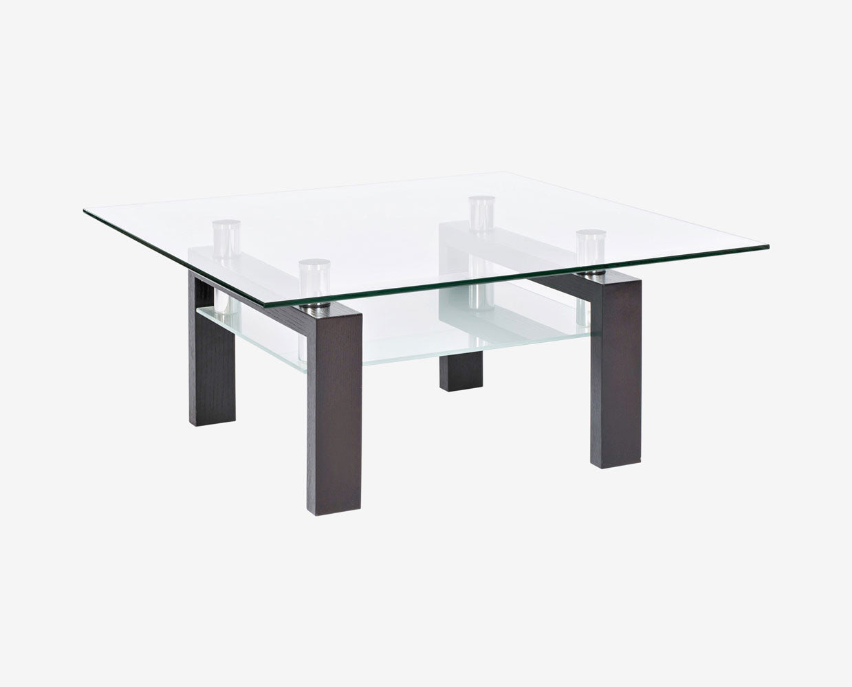 Square glass modern coffee table