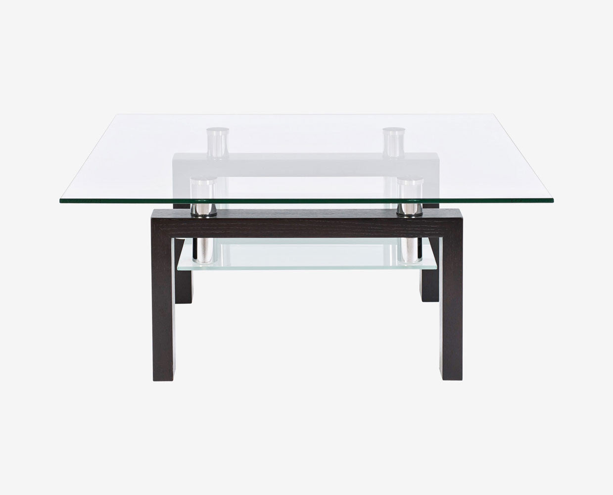 Wood glass contemporary sleek coffee table