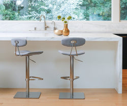 Lena Fabric Adjustable Counter and Bar Stool