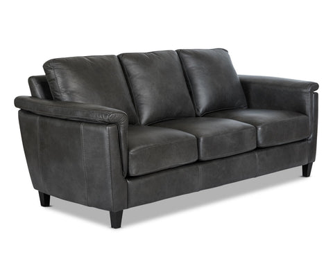 Traditional modern leather couch