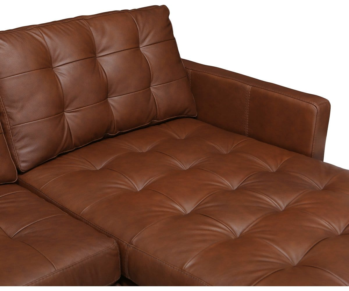 Tora Leather Right Chaise Sectional