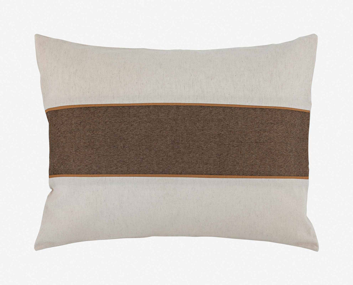 Plush modern tweed accent pillow