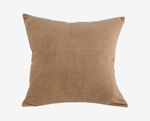 Plush beige brown suede texture pillow