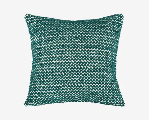 Teal modern chic zig-zag style pillow