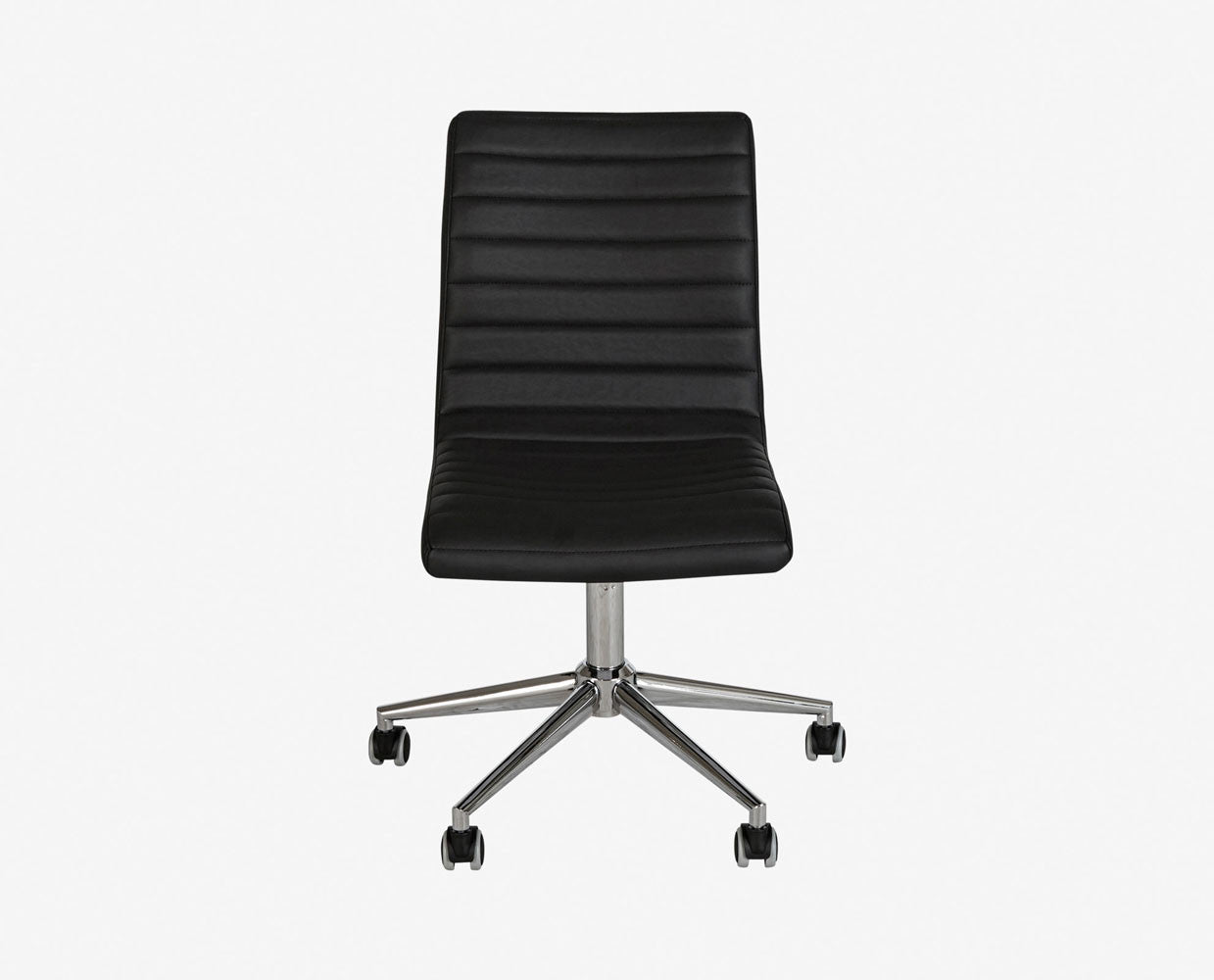 Leather lumbar support office chair