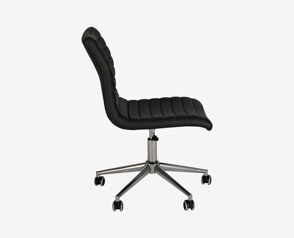 Contemporary sleek leather ergonomic desk chair