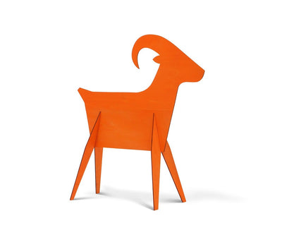 Ram Wooden Decoration - Orange