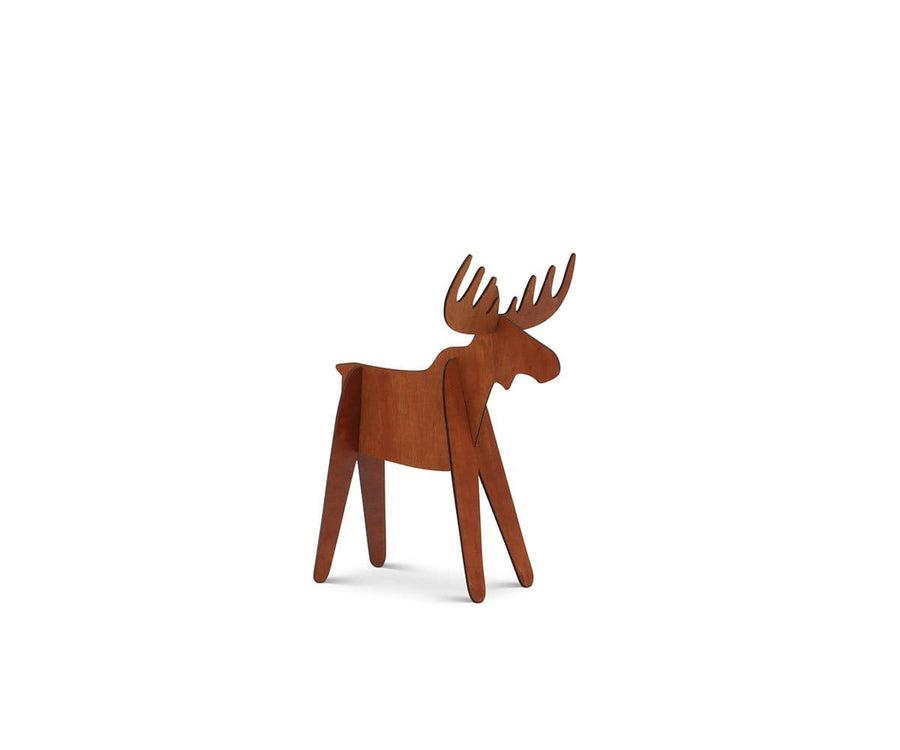 Moose Wooden Decoration - Brown