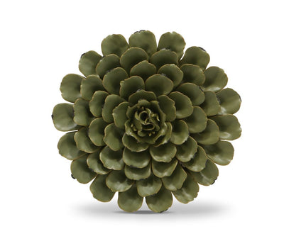 Flower Ceramic Decoration - Dark Green