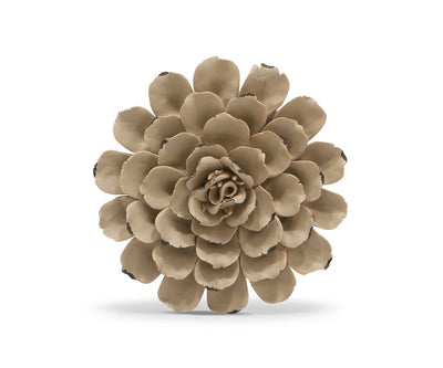 Flower Ceramic Decoration - Taupe