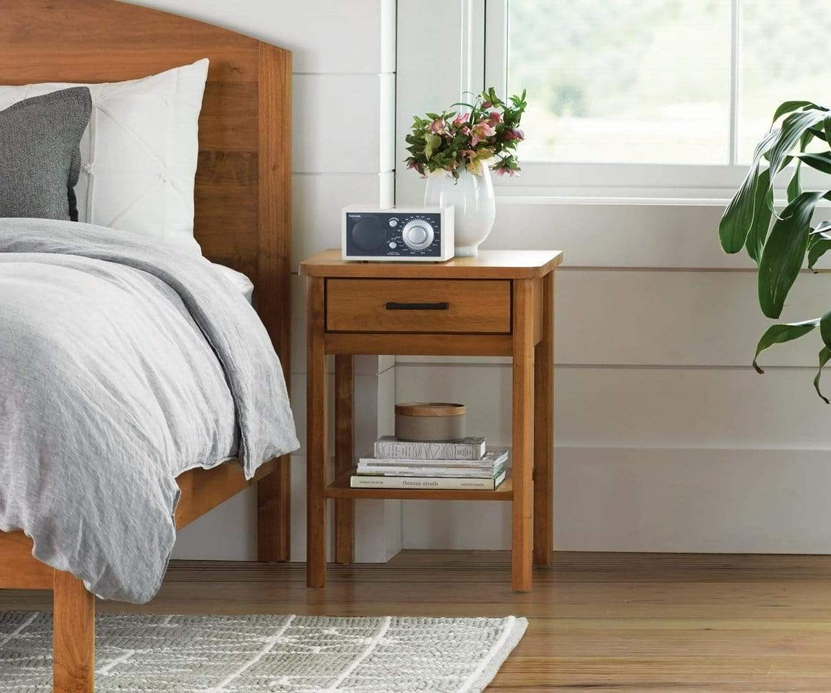 Classic nordic style storage nightstand