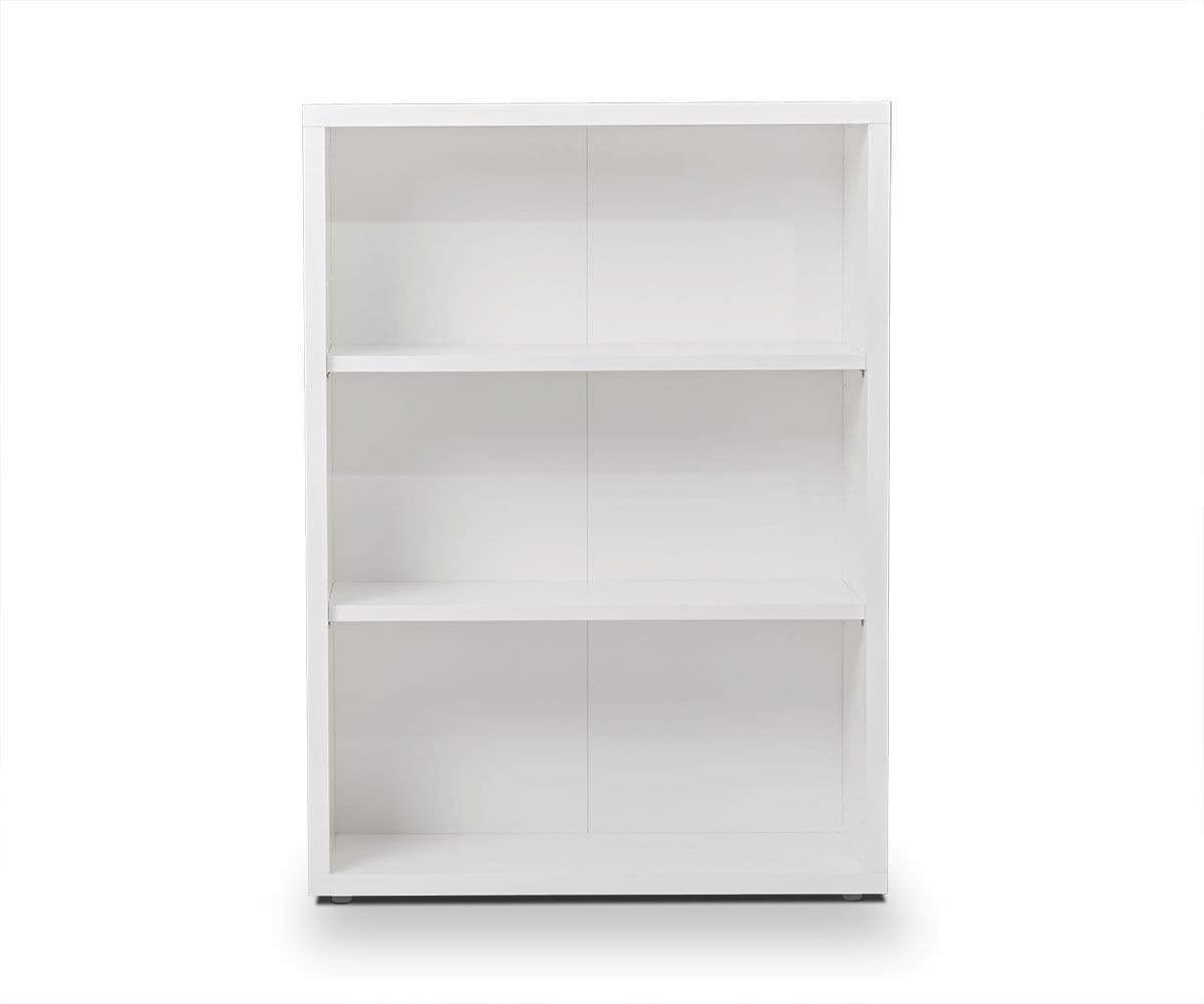 Jensen Low Bookcase With White Shelves