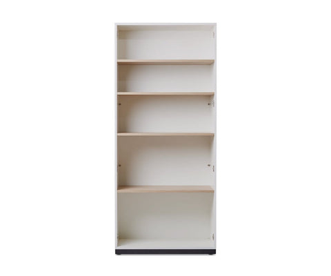 Gammel Tall Bookcase With Glass Doors Dania Furniture