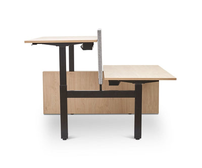 Jensen Double Sit Stand Desk with Reversible Panel