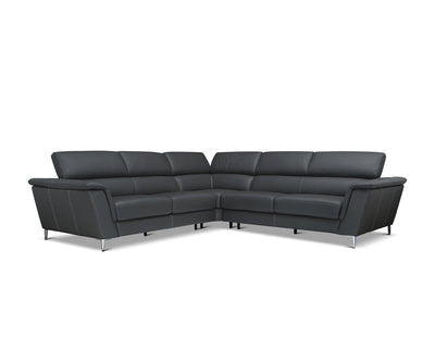 Donte Leather Corner Sectional