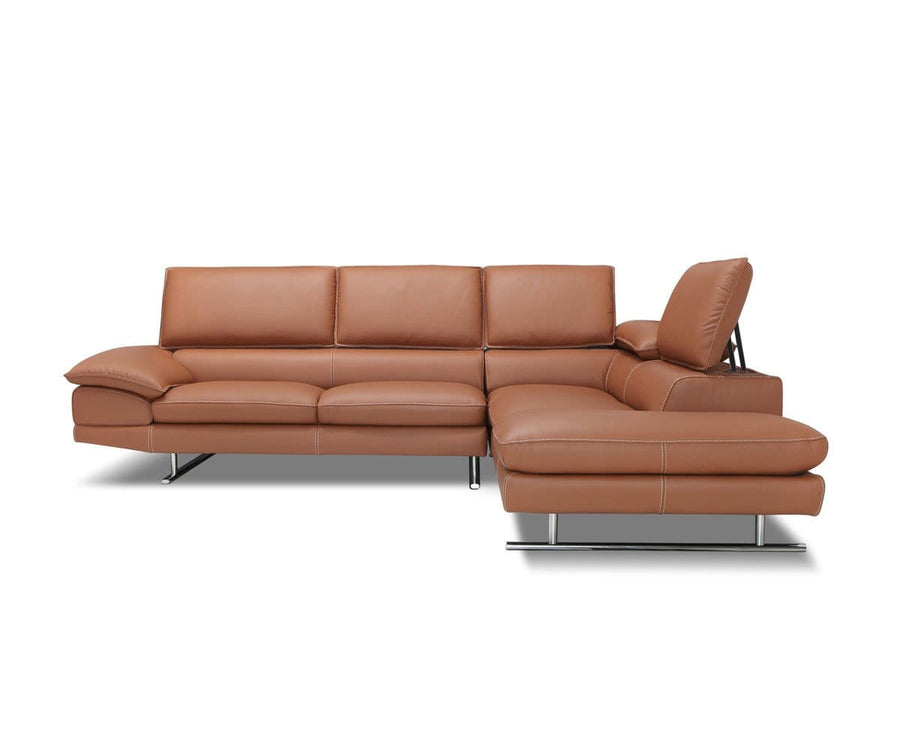 Mauro Leather Right Sectional