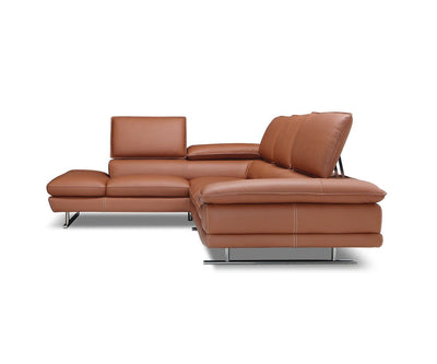 Mauro Leather Left Sectional