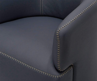 Nicasio Leather Swivel Chair