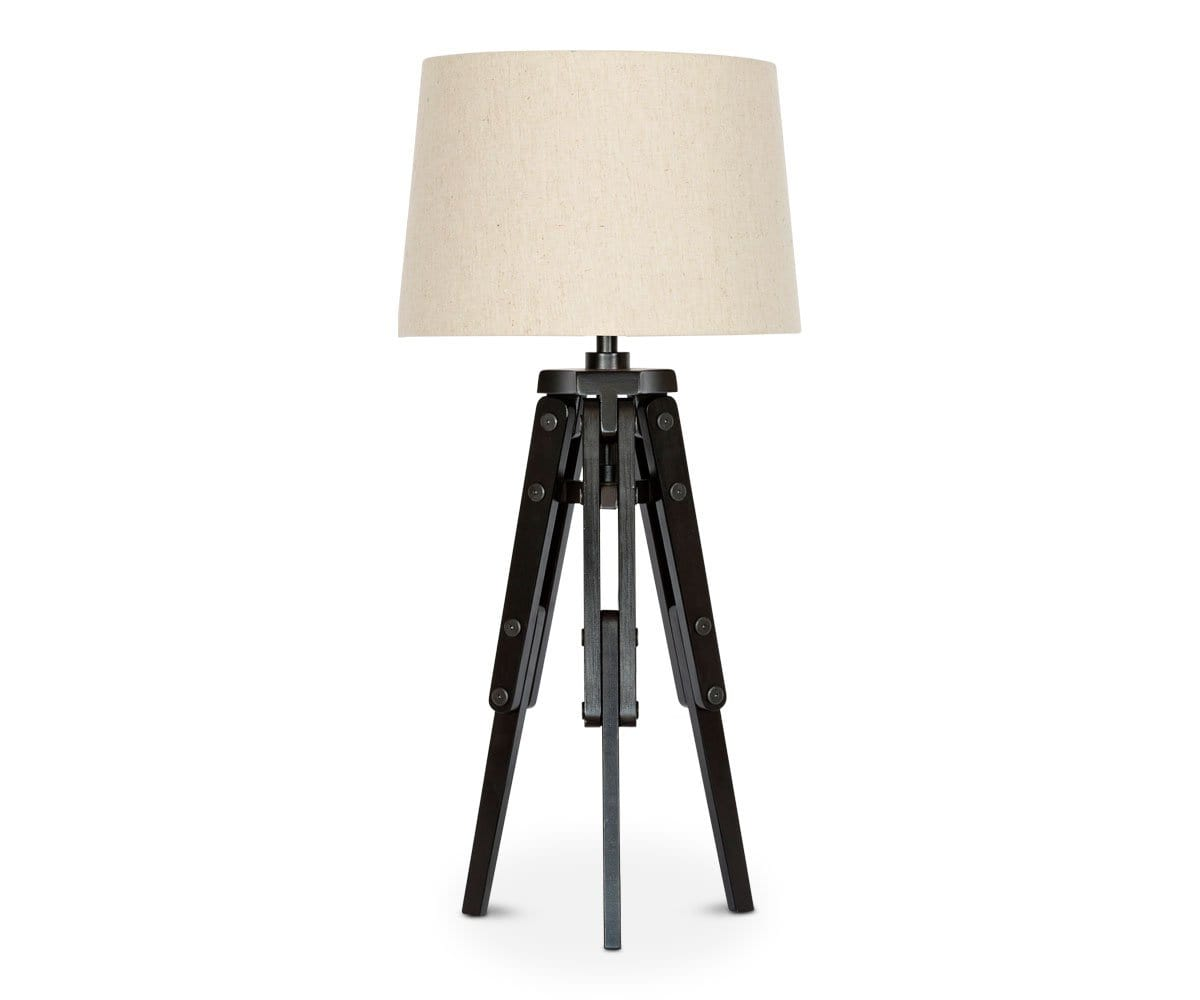 Genial Tripod Wooden Table Lamp