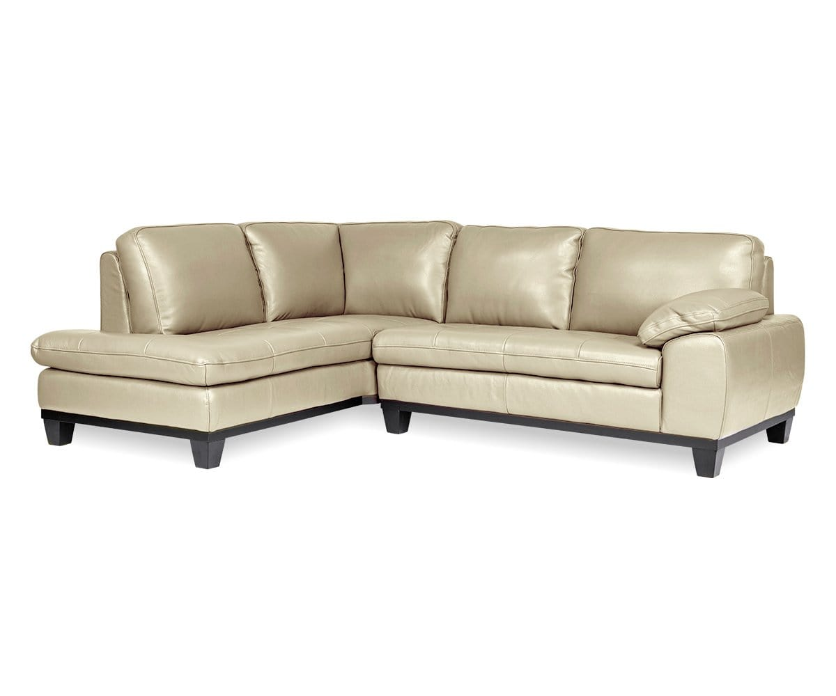 Selago Leather Left Sectional