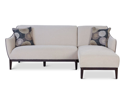 Modern beige tailored chaise sectional