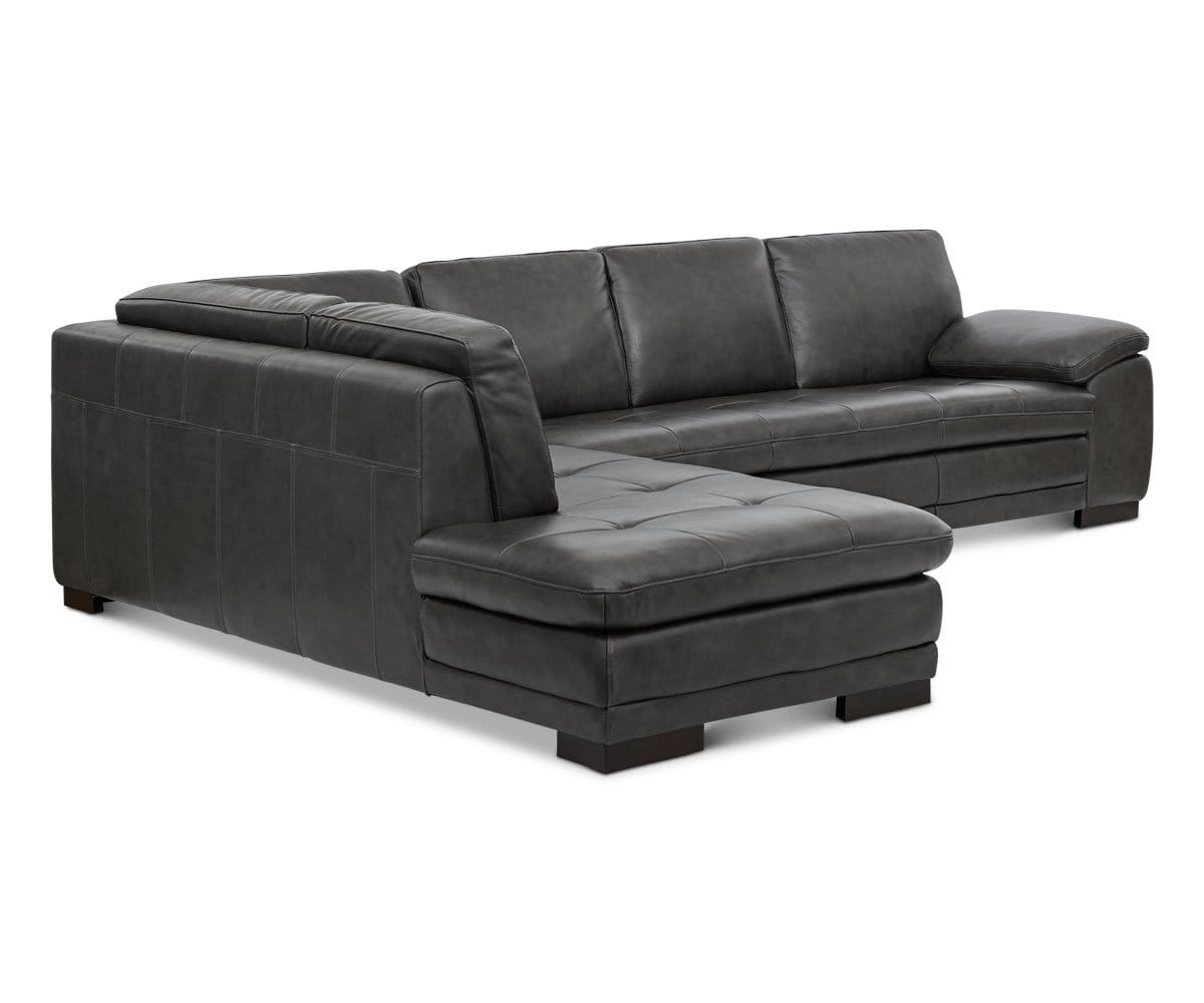 Cercis Leather Sectional Left Chaise – DaniaFurniture