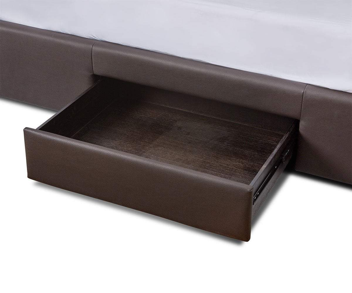 "Lukko Storage Bed Java Brown CU004 / Queen (65""W x 95.7""D x 47.6""H) - Scandinavian Designs"