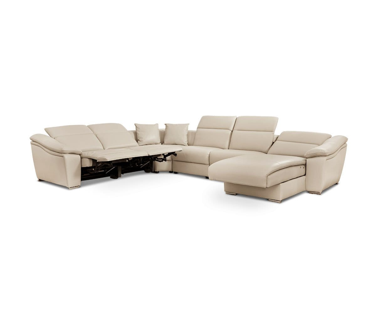 Maxino Right Power Sectional - Silver