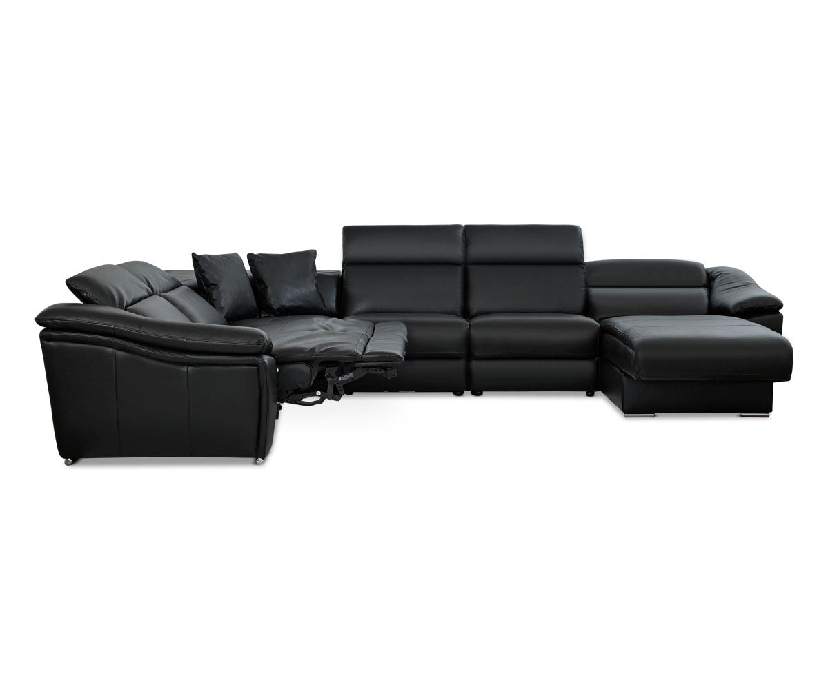 Maxino Right Power Sectional - Black