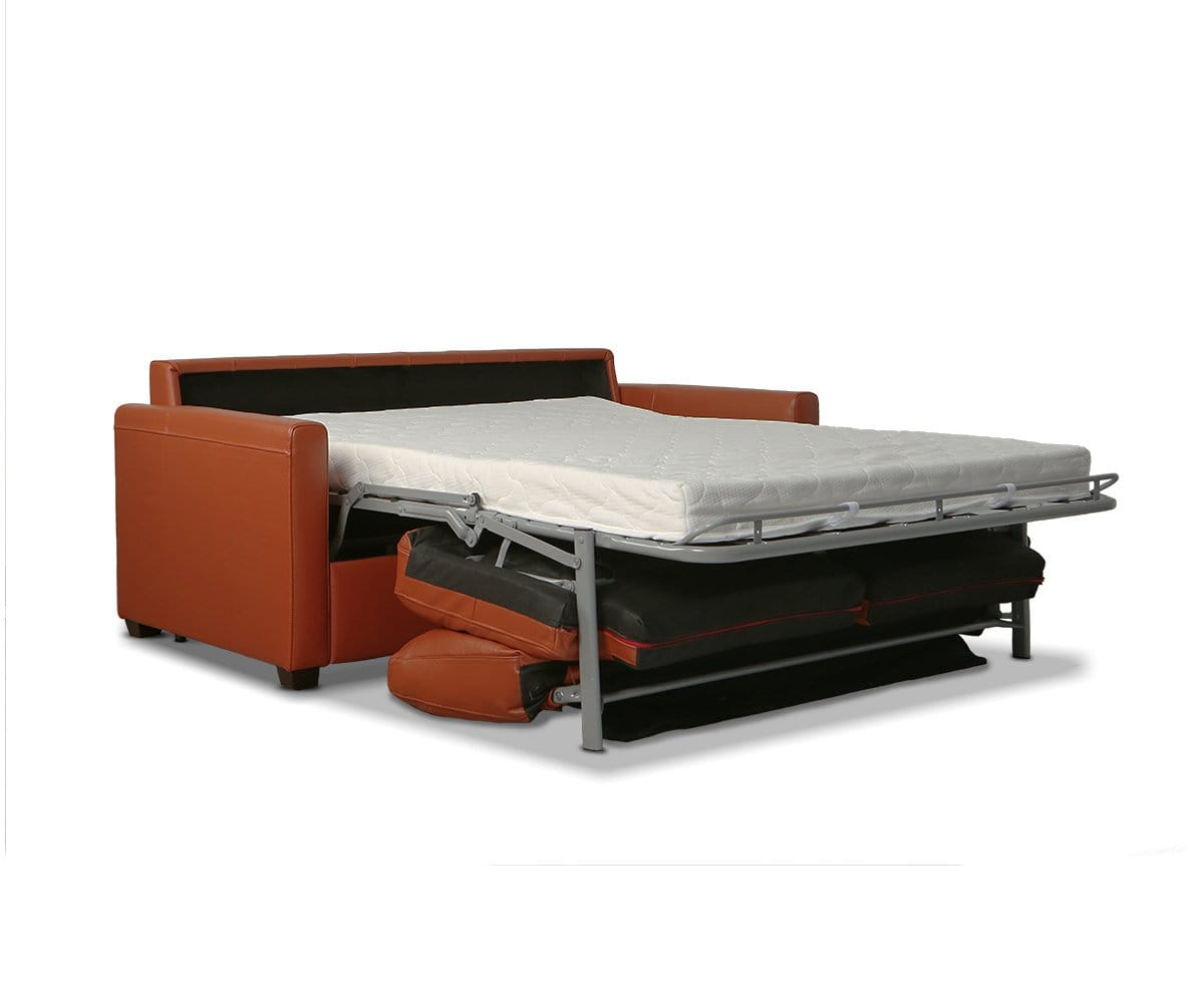 Jonas Leather Full Sleeper Sofa