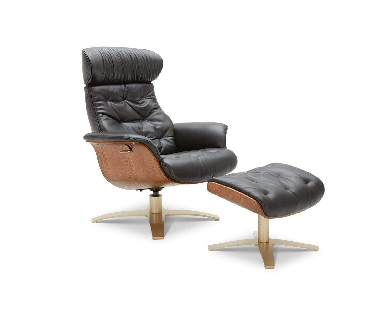 Awesome Anselmo Leather Recliner Ottoman Dania Furniture Gmtry Best Dining Table And Chair Ideas Images Gmtryco