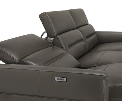 Vetali Leather Power Reclining Right Sectional