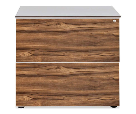 Modern white lateral file cabinet