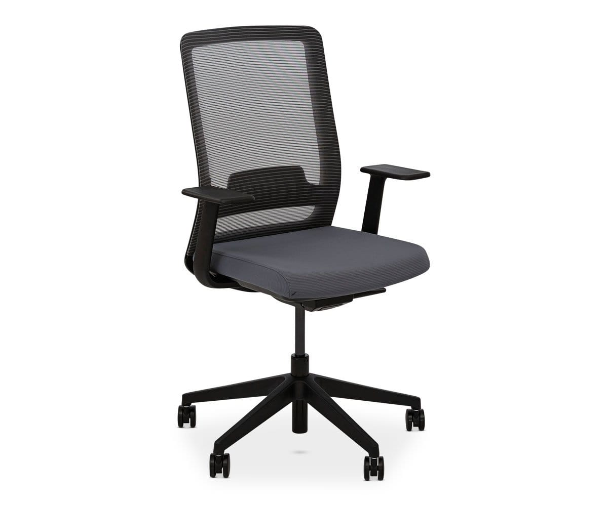 Grey tailored backrest chair
