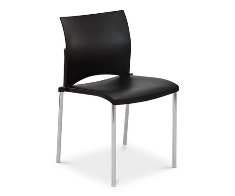 Kalle Stacking Chair - Black