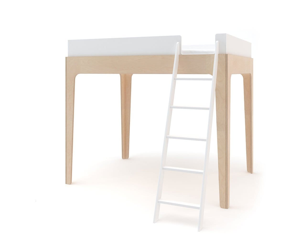 Perch Twin Loft Bed Birch Dania Furniture