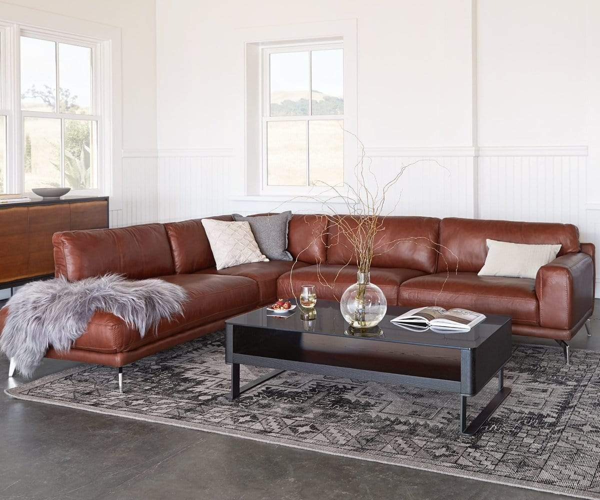 Peruna Leather Sectional Left Chaise : dania sectional - Sectionals, Sofas & Couches
