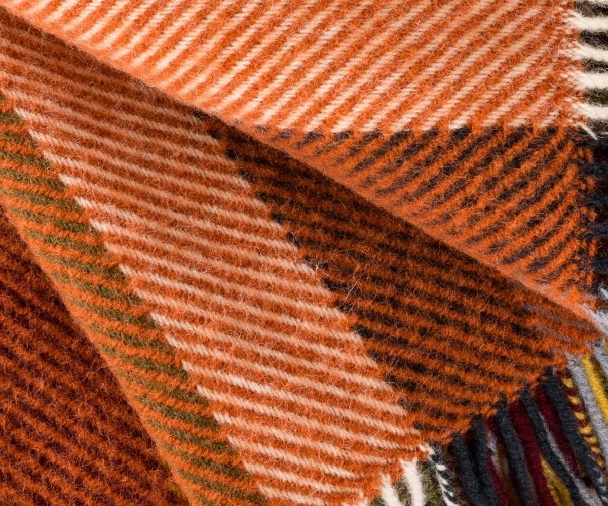 Classic traditional warm wool throw blanket